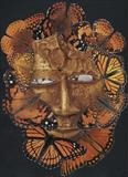butterfly mask by steve newton, Photography, collage