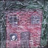 house 1 by steve newton, Sculpture, Painted Plaster, mixed media - framed
