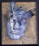 mixed thoughts I by steve newton, Sculpture, mixed media,papier mache