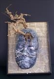 mixed thoughts II by steve newton, Sculpture, mixed media, papier mache,