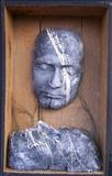 self non self by steve newton, Sculpture, mixed media, papier mache,