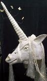 unicorn - full head mask by steve newton, Sculpture, papier mache, mixed media